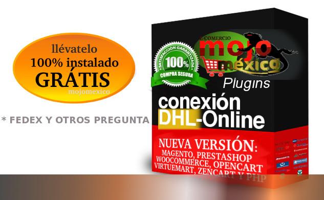 Conexion Servicios de Mensajeria Fedex, DHL , UPS