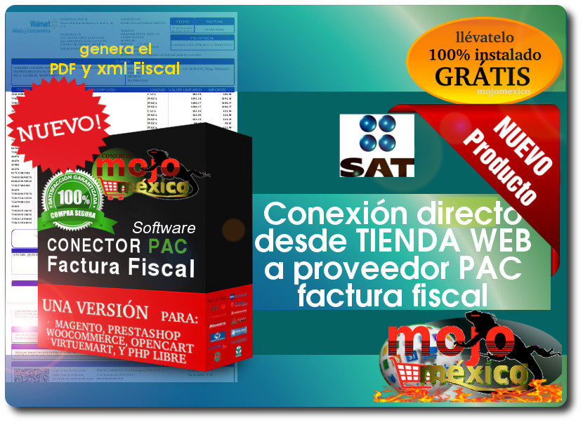 Conexion PAC Facturacion Fiscal con tiendas Web Mojomexico